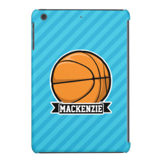 Basquetebol em listras de azul-céu capa para iPad mini retina