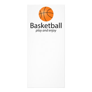 Basquetebol: jogue e aprecie 10.16 x 22.86cm panfleto