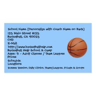 Basquetebol, nome da escola (personalize com trein cartao de visita