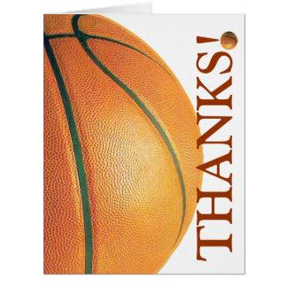 Basquetebol-Obrigado que você treina! Cartão Comemorativo Grande