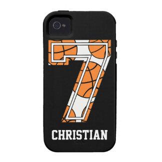 Basquetebol personalizado número 7 capinhas para iPhone 4/4S