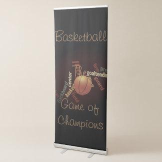Basquetebol The Game dos fanáticos dos esportes Banner Retrátil