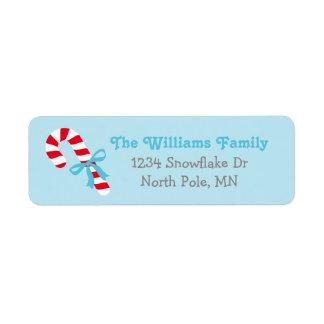 Bastão de doces das etiquetas de endereço | do