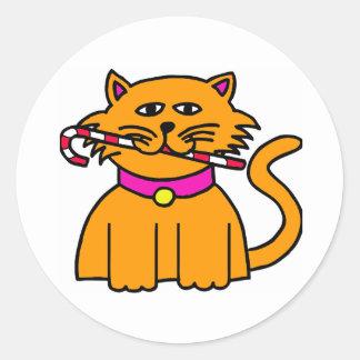 Bastão de doces do gatinho adesivo