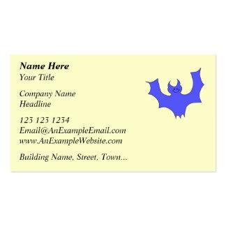Bastão de sorriso. Desenhos animados azuis Cartões De Visitas