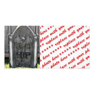 Bastão do RASGO da lápide do Dia das Bruxas Cartões Com Foto