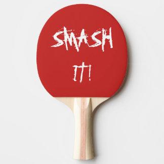 Bastão do ténis de mesa com slogan raquete de ping pong