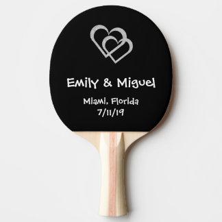 Bastão do ténis de mesa do favor do casamento do raquete de tênis de mesa