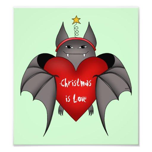 Bastão gótico Amorous do Natal com coração vermelh Foto Artes