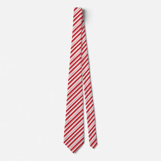 Bastão listrado vermelho e branco do Natal festivo Gravata