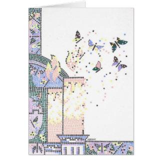 Bastão Mitzvah do mosaico Cartão Comemorativo
