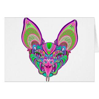 Bastão psicadélico do arco-íris cartão