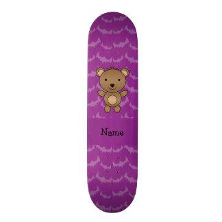 Bastões conhecidos personalizados do roxo do urso shape de skate 18,7cm