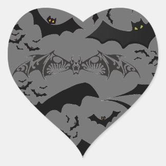 Bastões do Dia das Bruxas Adesivo Coração
