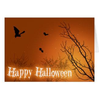 Bastões do Dia das Bruxas & árvores - cartão