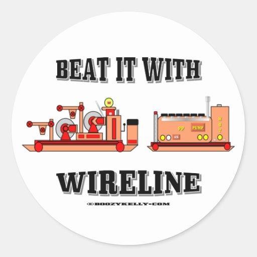 Bata-o com cabo, etiqueta do campo petrolífero adesivos em formato redondos