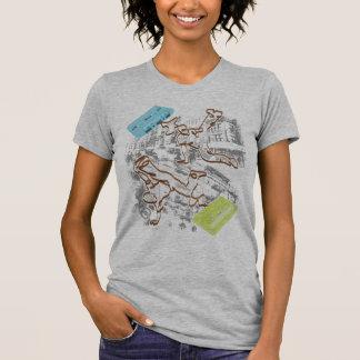 batalha da gaveta do B-menino (cinzas) T-shirt