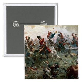 Batalha de Waterloo, o 18 de junho de 1815, 1898 ( Bóton Quadrado 5.08cm
