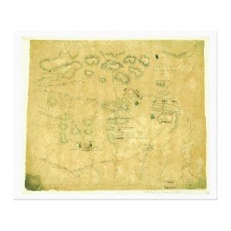 Batalha do mapa revolucionário da guerra das colin impressão em tela