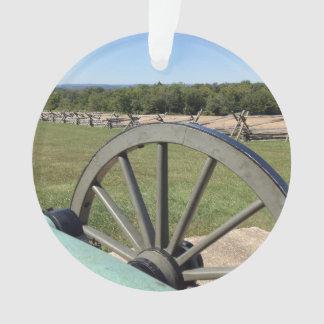 Batalha do ornamento acrílico redondo do canhão de