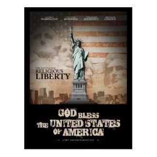 Batalha para a liberdade religiosa cartão postal