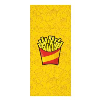 Batatas fritas 10.16 x 22.86cm panfleto