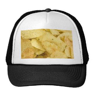 Batatas fritas amarelas como um fundo bones