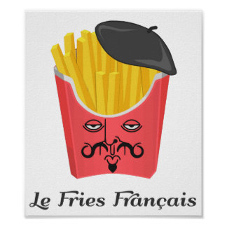 Batatas fritas do Le de France Pôster
