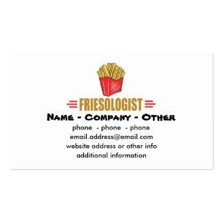Batatas fritas engraçadas cartão de visita