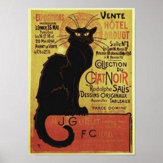 Bate-papo Noir, Vente Hôtel Drouot Steinlen do Poster