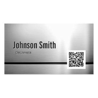 Baterista - código de aço inoxidável de QR Cartão De Visita