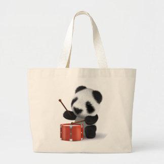 baterista da panda do bebê 3d sacola tote jumbo