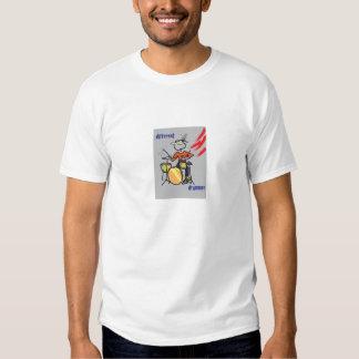 Baterista diferente 3 camiseta