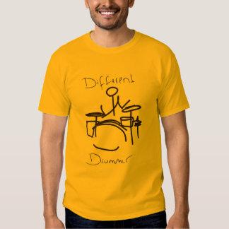 Baterista diferente um tshirt