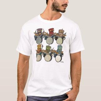 Bateristas do robô camiseta
