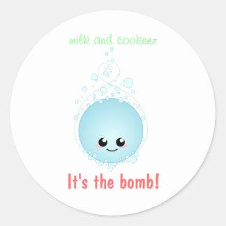 BathballTshirt, leite e cookeez, é a bomba! Adesivo