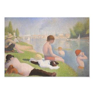 Bathers em Asnieres por Georges Seurat Convite 8.89 X 12.7cm