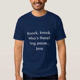 Batida, batida Java Camisetas