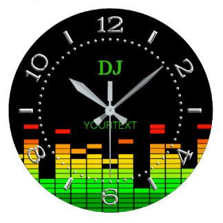 Batida personalizada das impressões do equalizador relógio grande