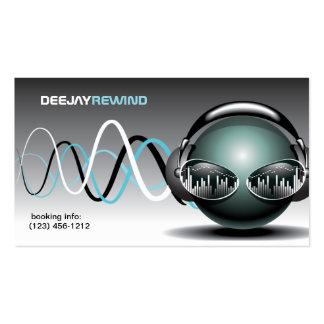Batidas loucas - cartões de visitas do DJ