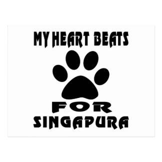 Batimento cardíaco para SINGAPURA Cartão Postal