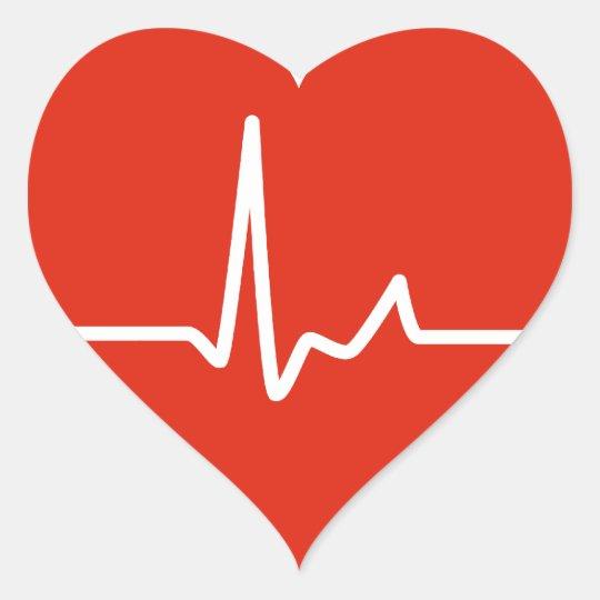 Armario Solteiro Mdf ~ Batimentos cardíacos adesivo coraç u00e3o Zazzle