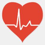 Batimentos cardíacos adesivo de coração