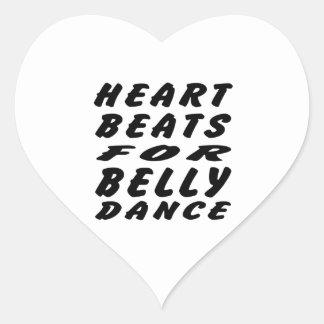 Batimentos cardíacos para a dança do ventre adesivos de corações