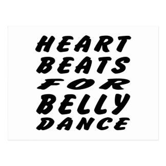 Batimentos cardíacos para a dança do ventre cartões postais