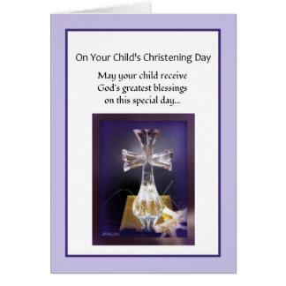 Batismo Cartão Comemorativo
