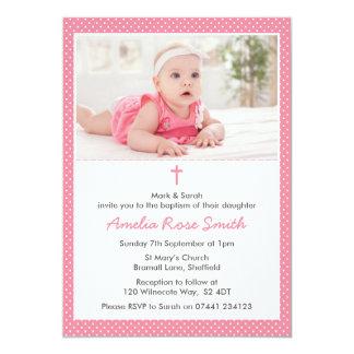 Batismo das meninas/convite do baptismo convite 12.7 x 17.78cm