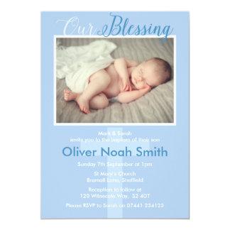 Batismo do bebé/convite do baptismo convite 12.7 x 17.78cm