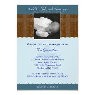 Batismo do menino/convite do baptismo convite 12.7 x 17.78cm