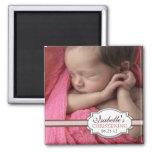 Batismo doce Brown do bebé & foto cor-de-rosa Imãs De Geladeira